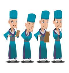 china lord cartoon character set vector image vector image