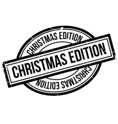 Christmas Edition rubber stamp vector image vector image