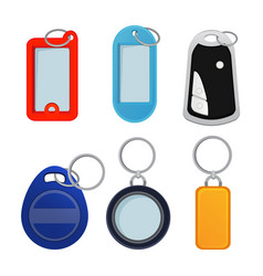 Different keychains pictures in vector
