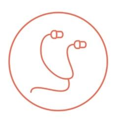 Earphone line icon vector