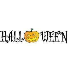 Halloween Text vector image vector image