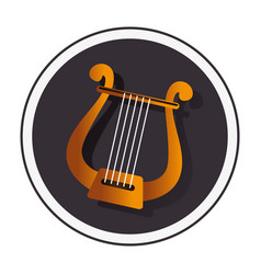 harp instrument isolated icon vector image vector image