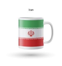 Iran flag souvenir mug on white background vector