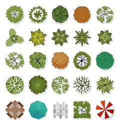 Landscape design elements vector