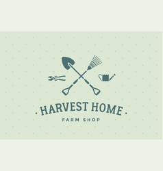 logo of farm shop harvest home vector image