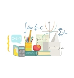 Mathematics Class Set Of Objects vector image vector image