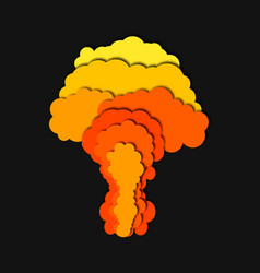 nuclear power plant explosion isolated 3d vector image