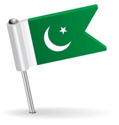 Pakistani pin icon flag vector