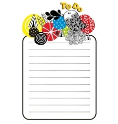 Printable design of to do list with bright design vector