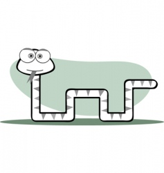 square animal snake vector image vector image