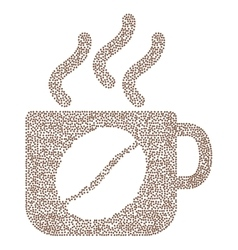 Steam coffee cup composition with coffee vector