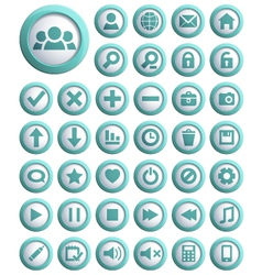 Web icons big set vector image