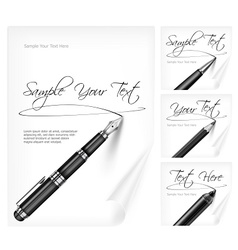Writing tools and paper sheet vector image vector image