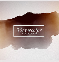 black watercolor cloud background vector image