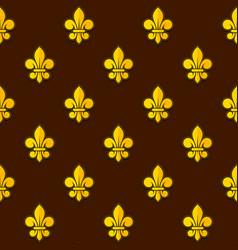 Golden fleur de lis seamless pattern vector