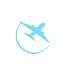 Airplane symbol isolated on white background vector