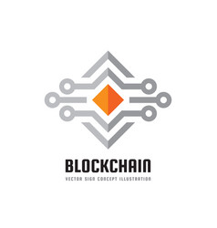 Blockchain technology - logo template vector