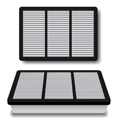 White air filter vector