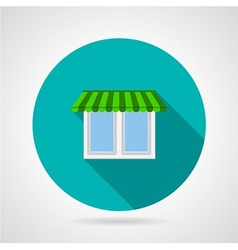 Window with canopy flat icon vector image