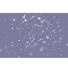Grey starry sky vector