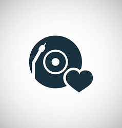 Dj love icon vector