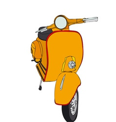 Yellow motorcycle vector