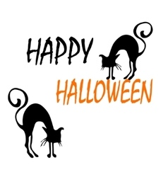 Halloween background with cats vector
