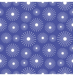 Seamless pattern with close-up snowflakes vector