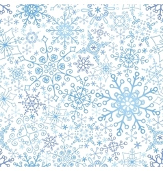 Snowflakes lace seamless patternwinterchristmas vector