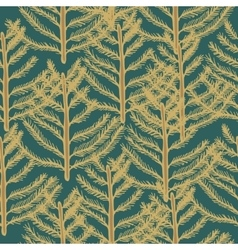 Seamless pattern pine vector