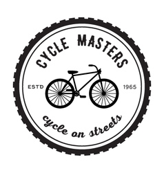 Cycle masters badge vector