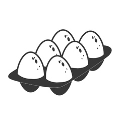 Egg icon bakery ingredient design graphic vector