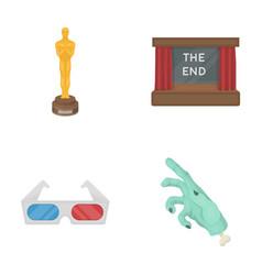 Award oscar movie screen 3d glasses films and vector