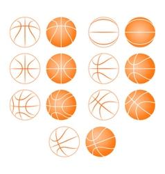 Basketball ball silhouette vector