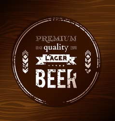 Beer coaster vector image