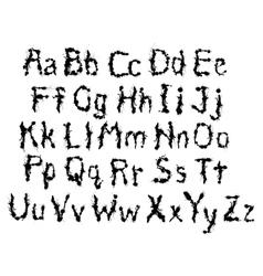 Black messy character vector