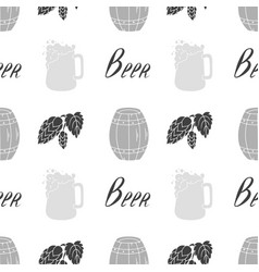 Brewery seamless pattern vector
