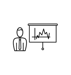 business analysis statistics icon vector image