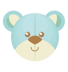 cute bear teddy isolated icon vector image vector image