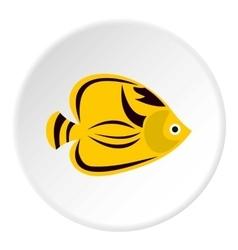 Fish yellow tang icon flat style vector image vector image