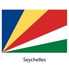 Flag of the country seychelles vector image