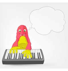 Funny Monster Pianist vector image vector image
