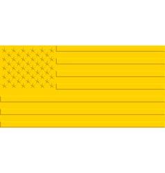 Gold usa flag vector