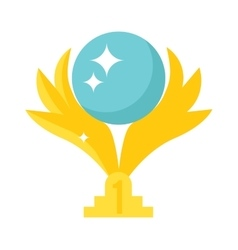 Golden wings award vector