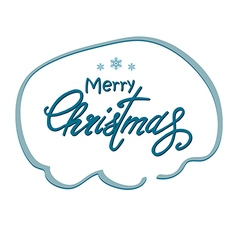 Greeting christmas lettering vector