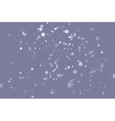 Grey starry sky vector