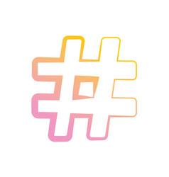 Hashtag social symbol vector