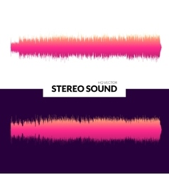 Hq sound waves music waveform pink vector