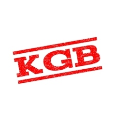 Kgb watermark stamp vector