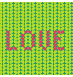 Knitted love seamless pattern vector